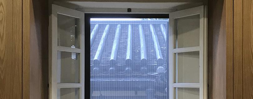 蚊網-綠匯學苑風琴式蚊網透光效果 | Hometown Design