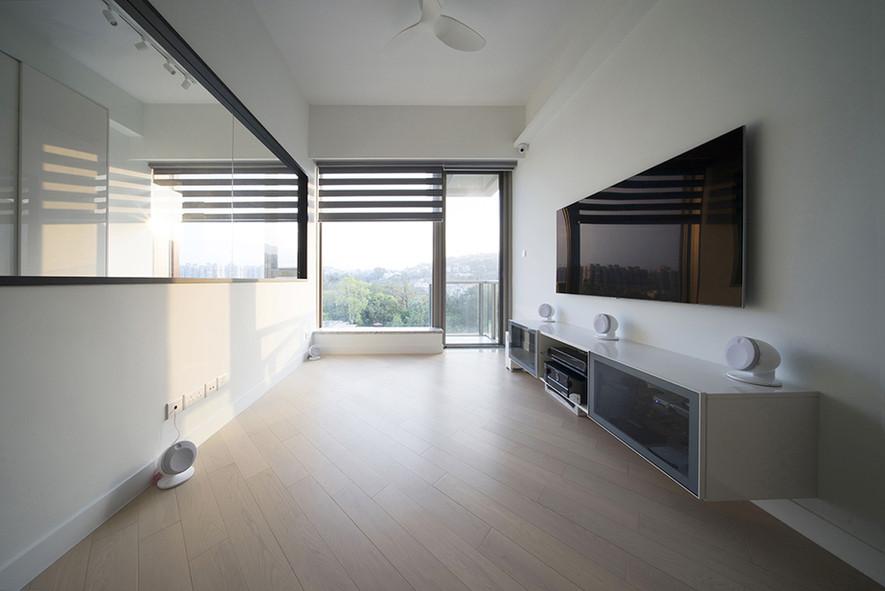 斑馬簾-客廳窗簾透光效果 | Hometown Design