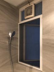 蚊網-白色風琴式浴室關閉效果 | Hometown Design