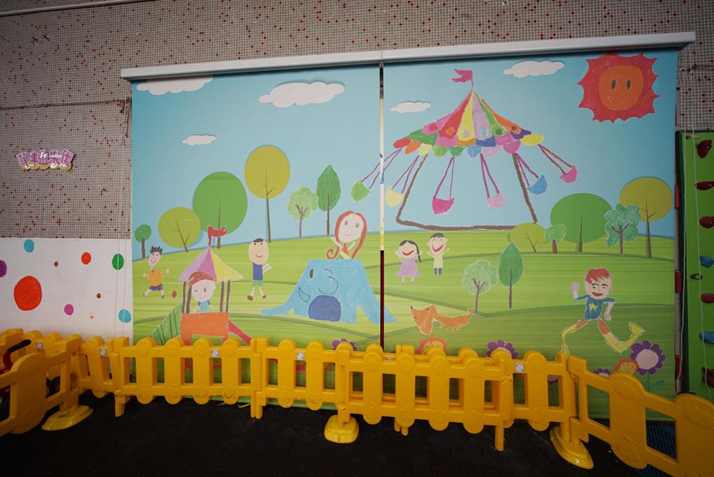 捲簾-幼稚園數碼印刷效果 | Hometown Design