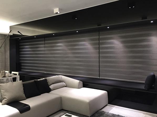 斑馬簾-窗簾型格灰三連效果   Hometown Design