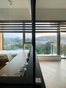 斑馬簾-書房窗簾透光效果 | Hometown Design