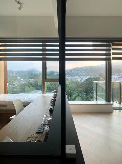斑馬簾-書房窗簾透光效果   Hometown Design