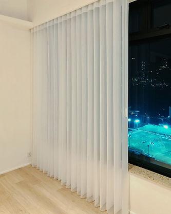 垂直柔紗簾-電動調光開關 | Hometown Design