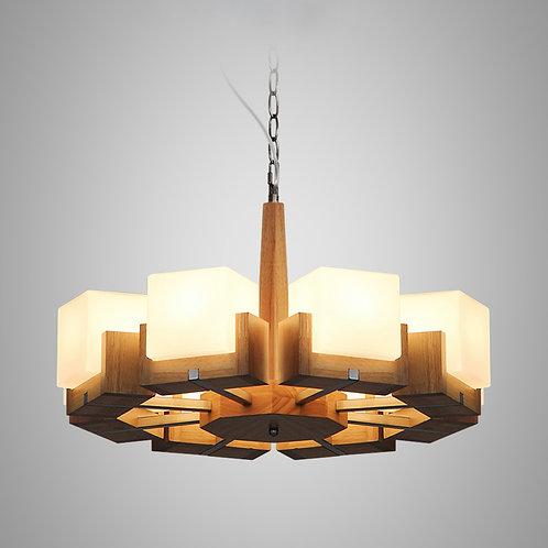 北歐風 | 木方吊燈 03