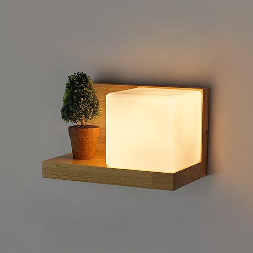 北歐風   木方壁燈 05