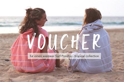 VOUCHER - tropical Surf Poncho