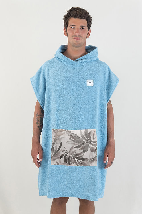 SURF PONCHO - cobalt | leaves