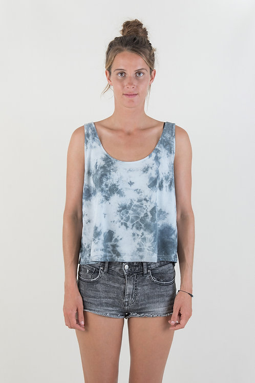 TIEDYE TOP - blue
