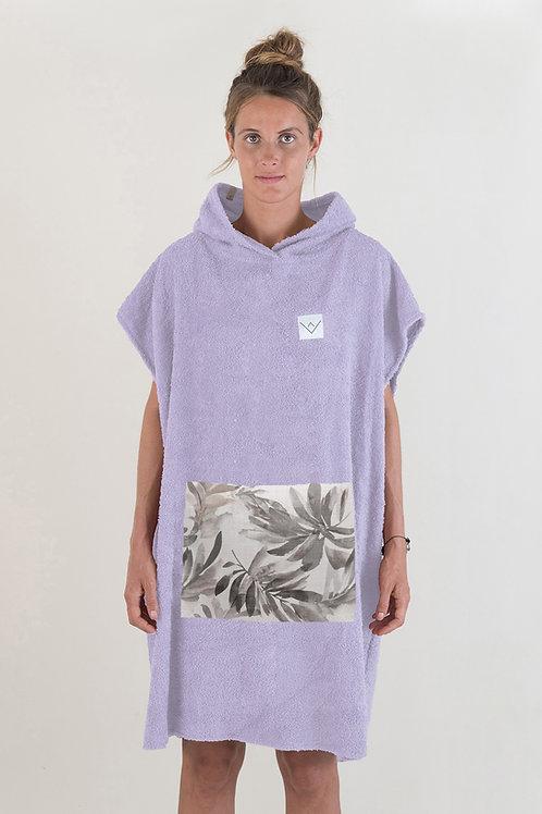 SURF PONCHO - lilac | leaves