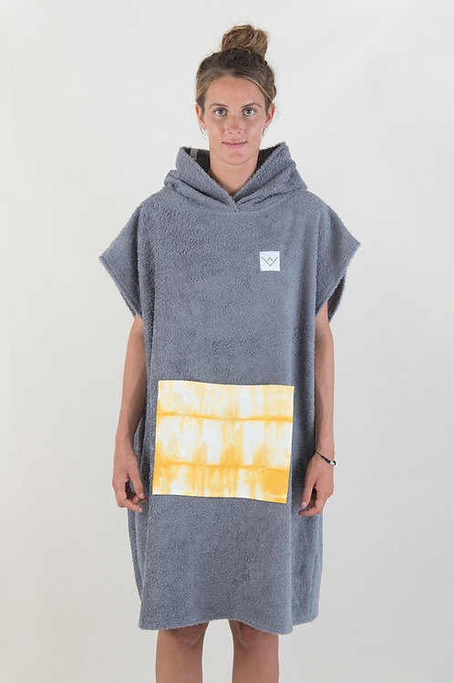 SURF PONCHO - darkgrey | yellow