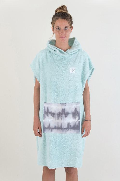SURF PONCHO - mint | grey