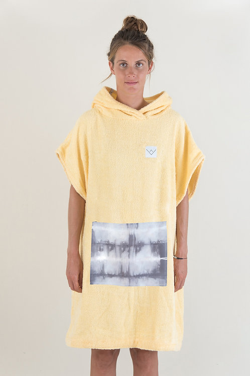 SURF PONCHO - yellow | grey