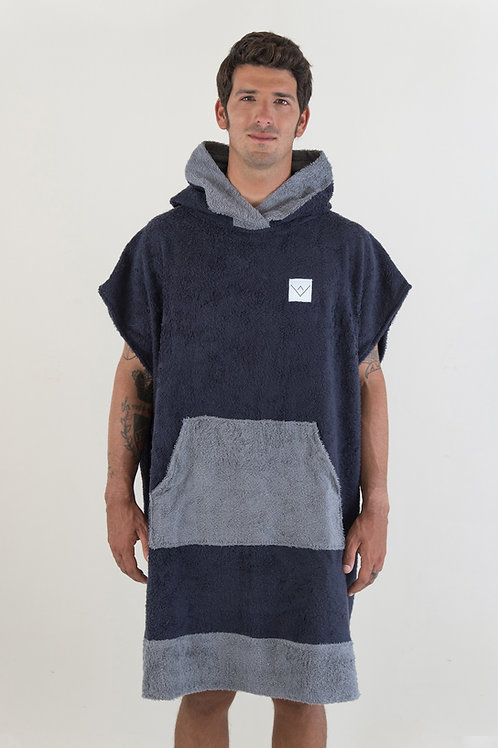 SURF PONCHO two tone - navy | darkgrey