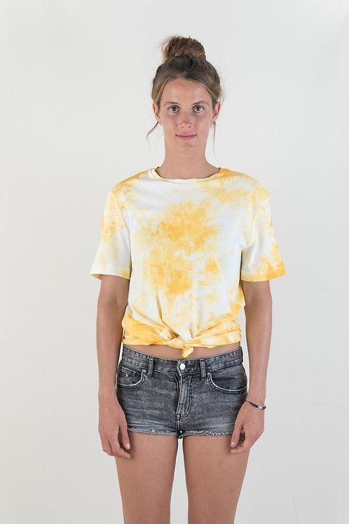 TIEDYE TEE - yellow