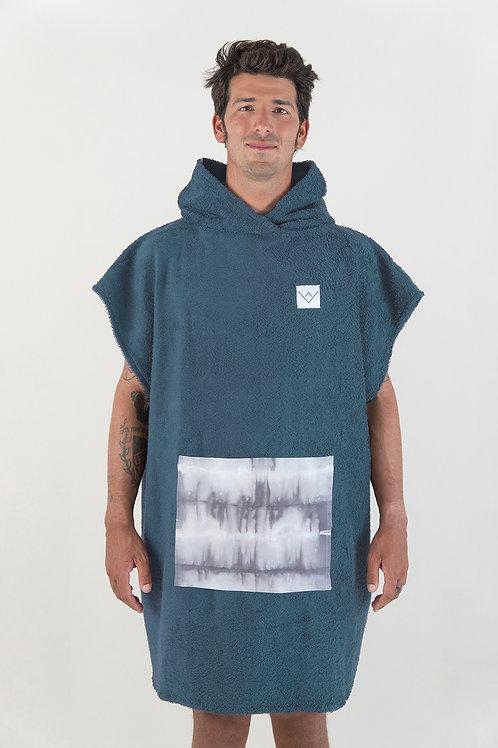 SURF PONCHO - petrol | grey