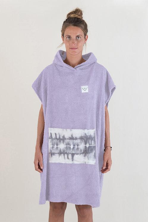 SURF PONCHO - lilac | grey