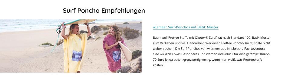 milchplus - surf poncho vergleich