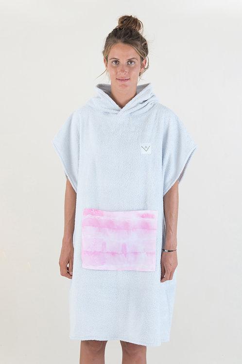 SURF PONCHO - grey | pink