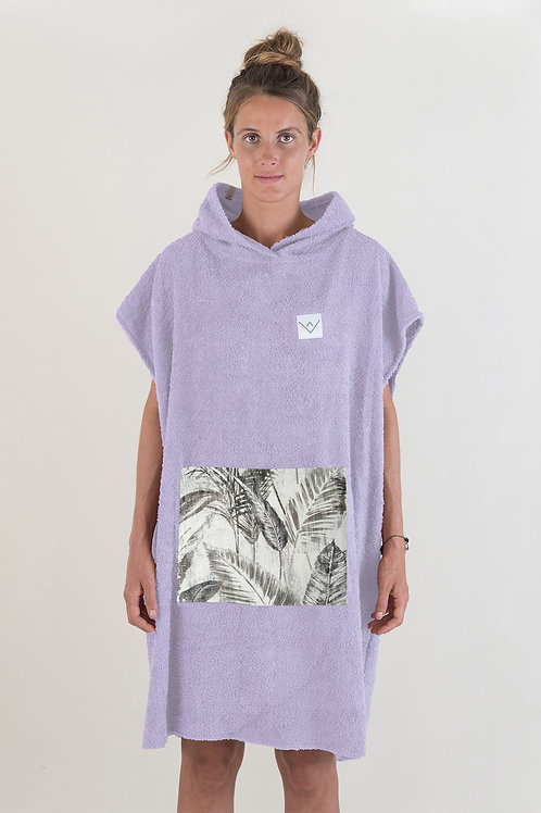 SURF PONCHO - lilac | jungle