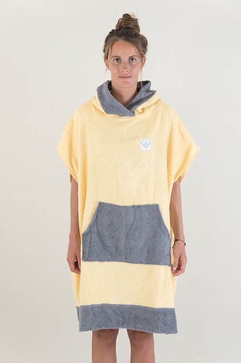 SURF PONCHO two tone - yellow | darkgrey