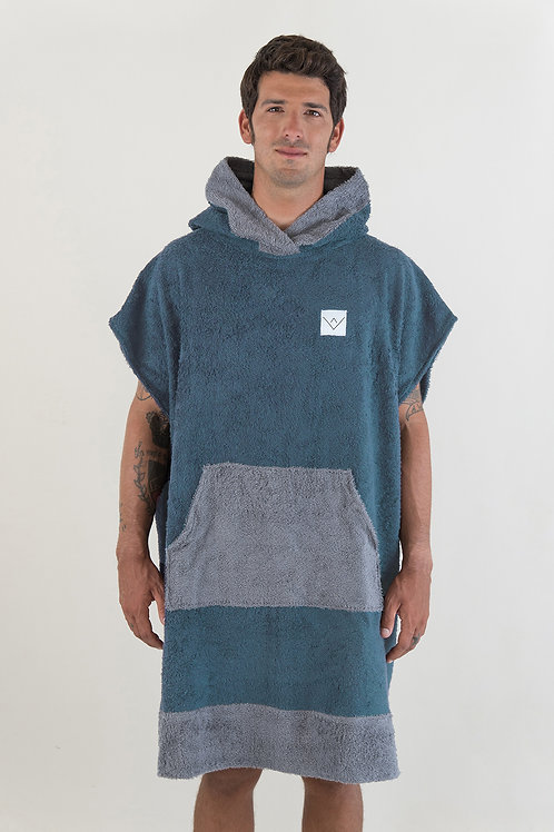 SURF PONCHO two tone - petrol | darkgrey
