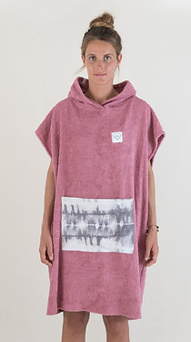 SURF PONCHO - berry | grey