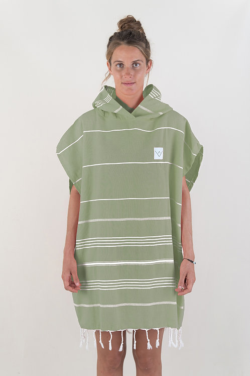 SURF PONCHO - tropical olive