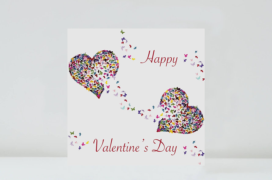 Valentine's Day When Two Hearts Meet Card