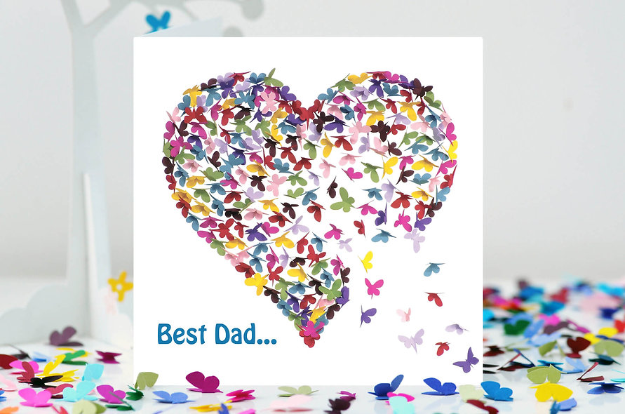 Best Dad (...in the world) Heart Card
