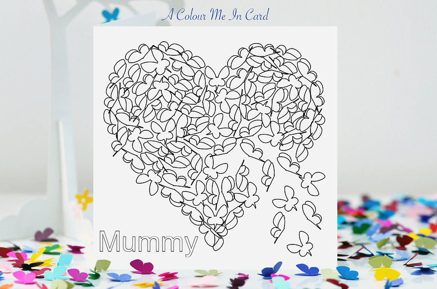 Colour Me In -  Mummy Card