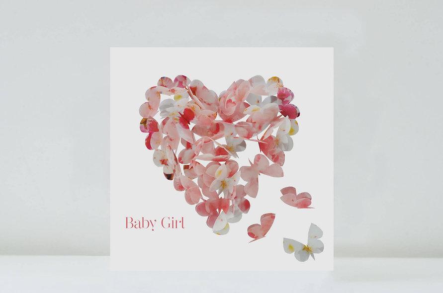 Baby Girl Cherry Blossom Heart
