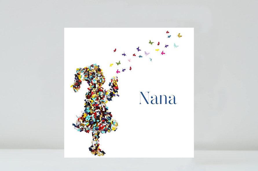 Nana Kisses Butterfly Card