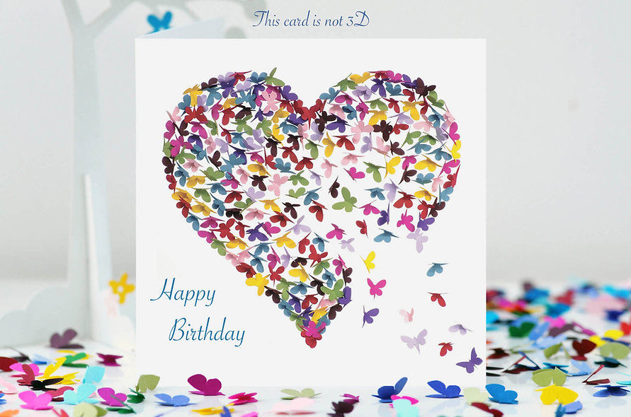 Kaleidoscope Butterfly Birthday,  Butterfly Love card