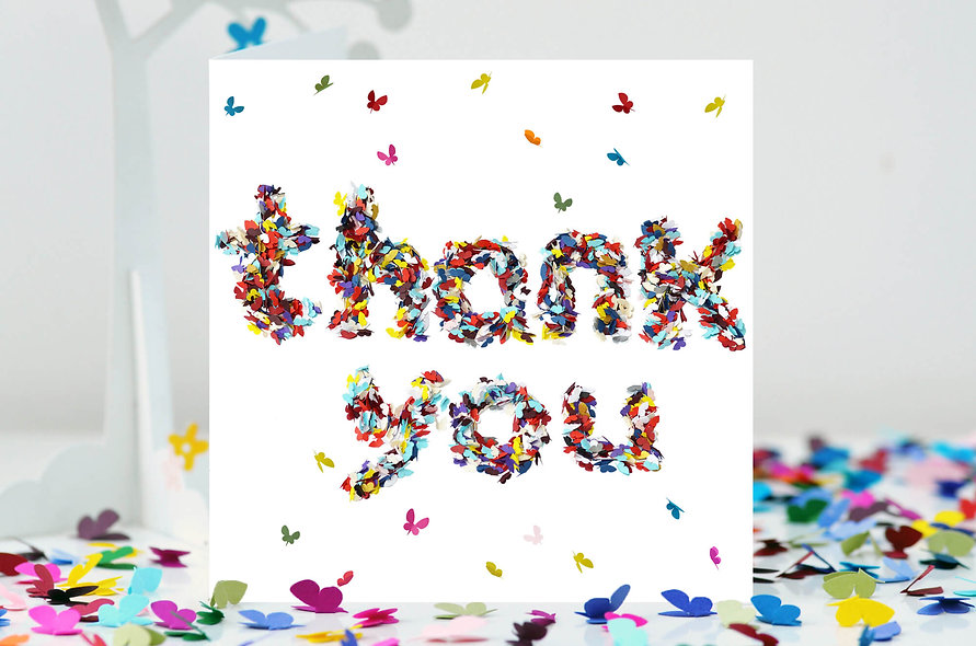 Butterly Thank You Card