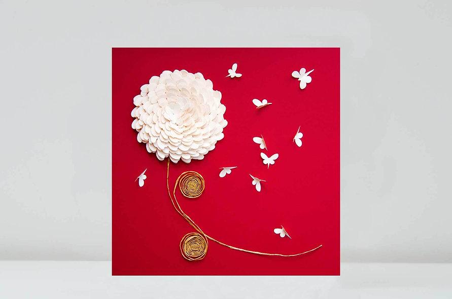 Chrysanthemum Butterfly Card