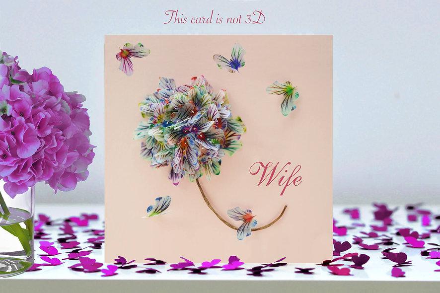 Wife Flower Card