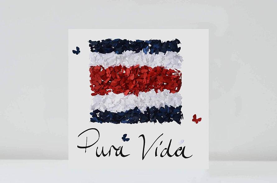 Costa Rica Card, Pura Vida Butterfly Card