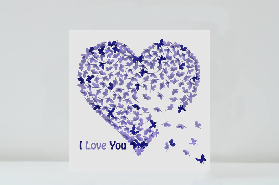 Two Tone - I Love You Card