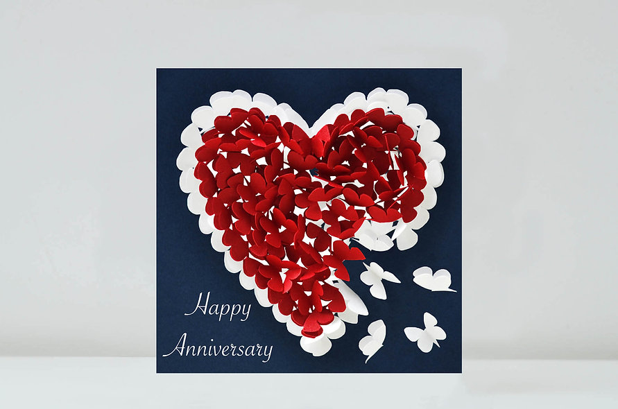 Butterfly Heart Happy Anniversary Card