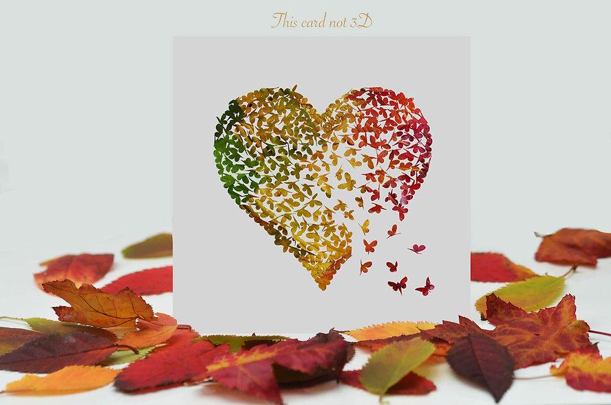 Autumn Butterfly Heart Card