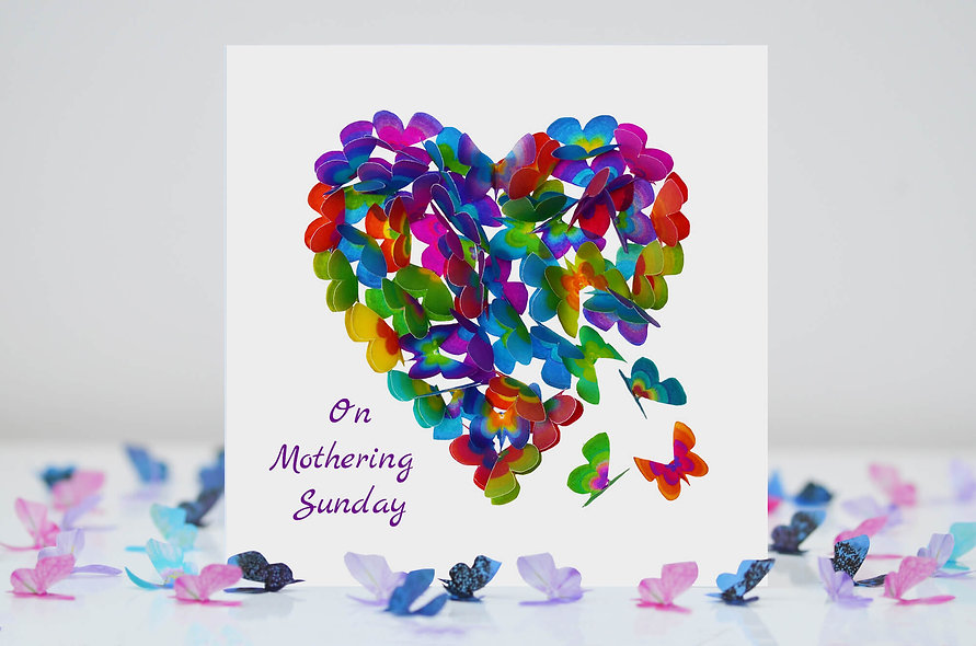 Mothering Sunday Butterfly Heart Card