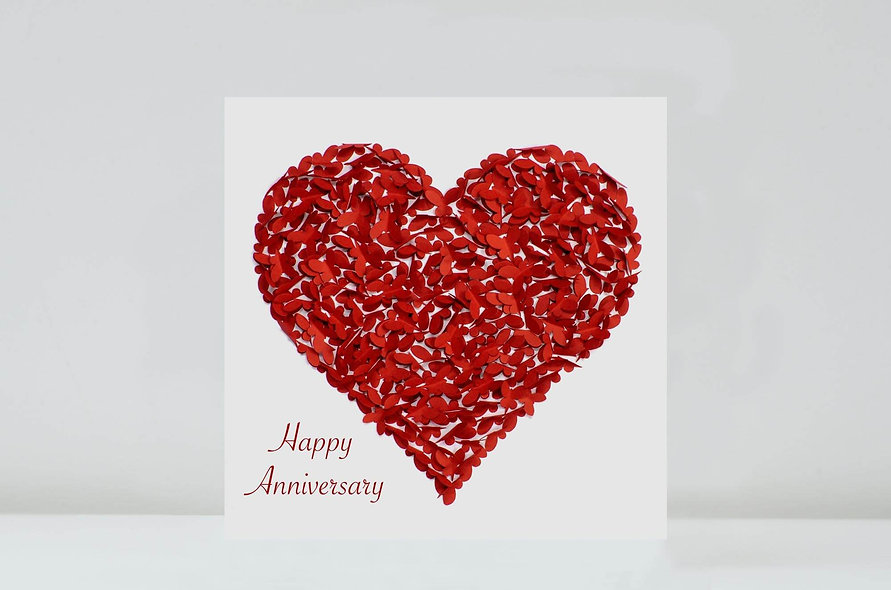 Red Butterfly Anniversary Card