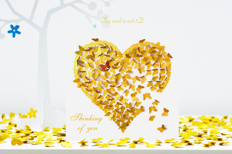 Heart Of Gold Thinking Of You Card