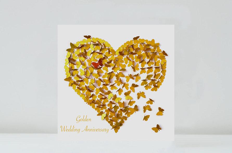 Butterfly Golden Wedding Anniversary Card