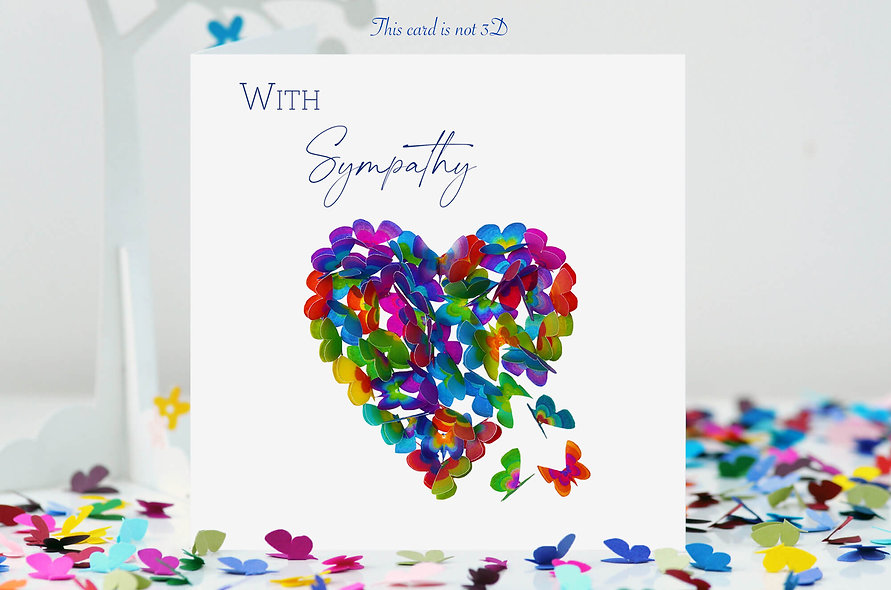 With Sympathy Thinking Of You Heart Card