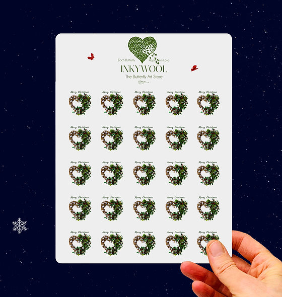 Sheet of Holly Stickers x25
