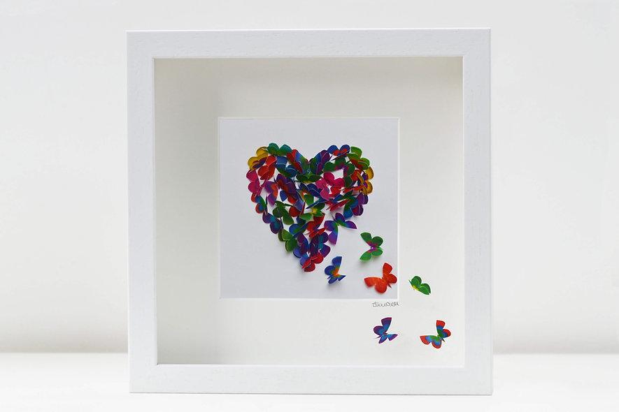 Paradise Butterfly Heart Artwork
