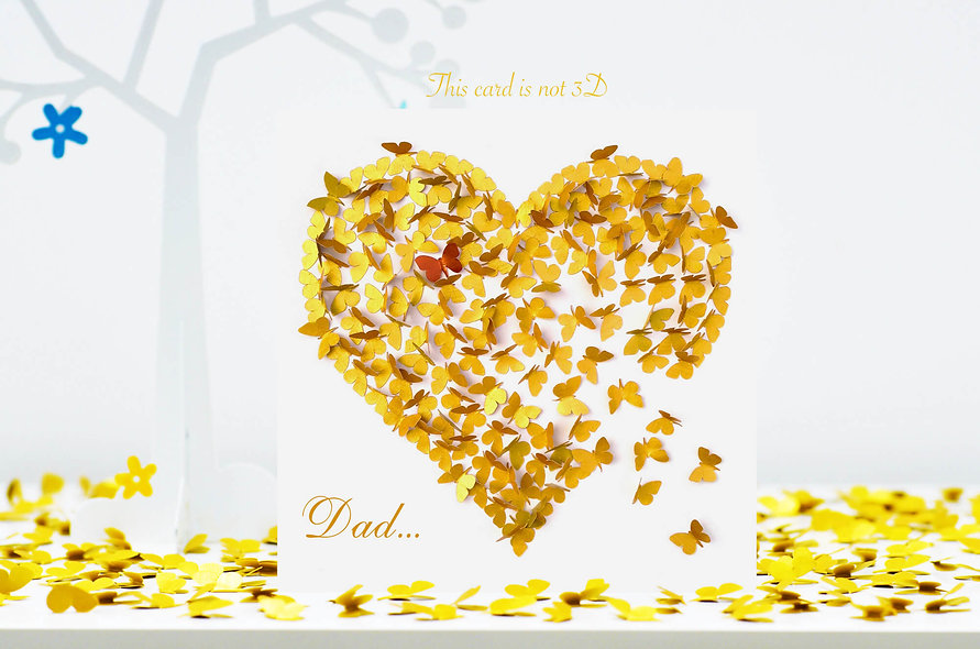 Dad Heart of Gold Card, Dad Birthday Card, Dad Thank You Card
