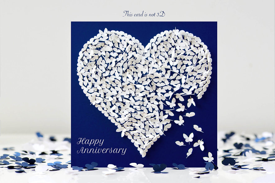 Anniversary Butterfly Heart Card